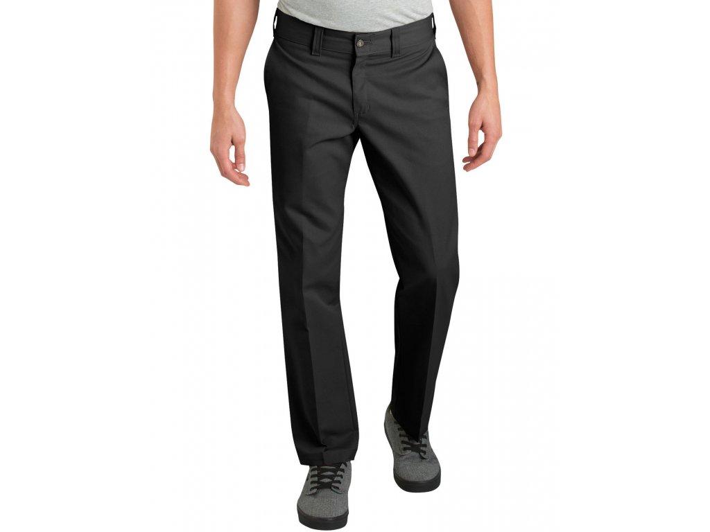 Motorkářské kalhoty (džíny) s úzkými nohavicemi Dickies DICKIES 894 INDUSTRIAL BLACK WORK PANT v černé barvě