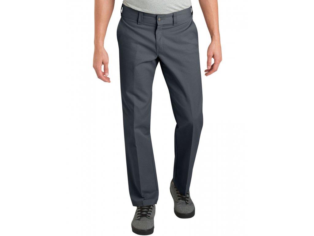 Motorkářské slimfit kalhoty Dickies DICKIES 894 INDUSTRIAL CHARCOAL WORK PANT v šedé barvě