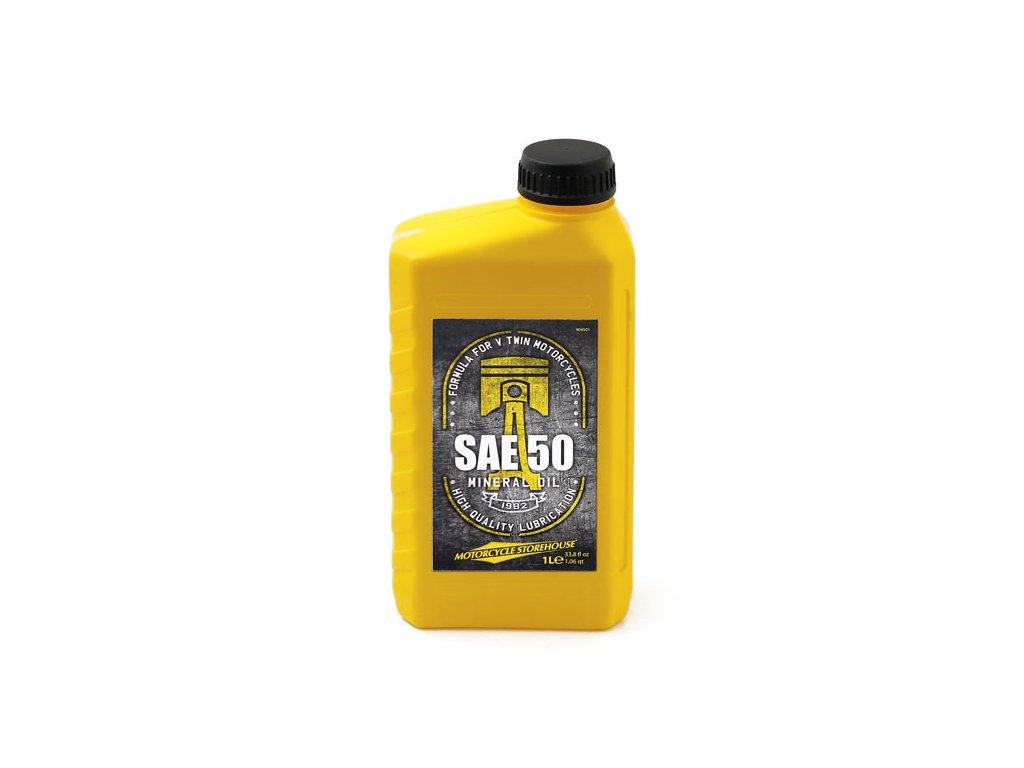 Motorkářský motorový minerální olej pro Harley Davidson MCS SAE 50 Mineral Motor Oil