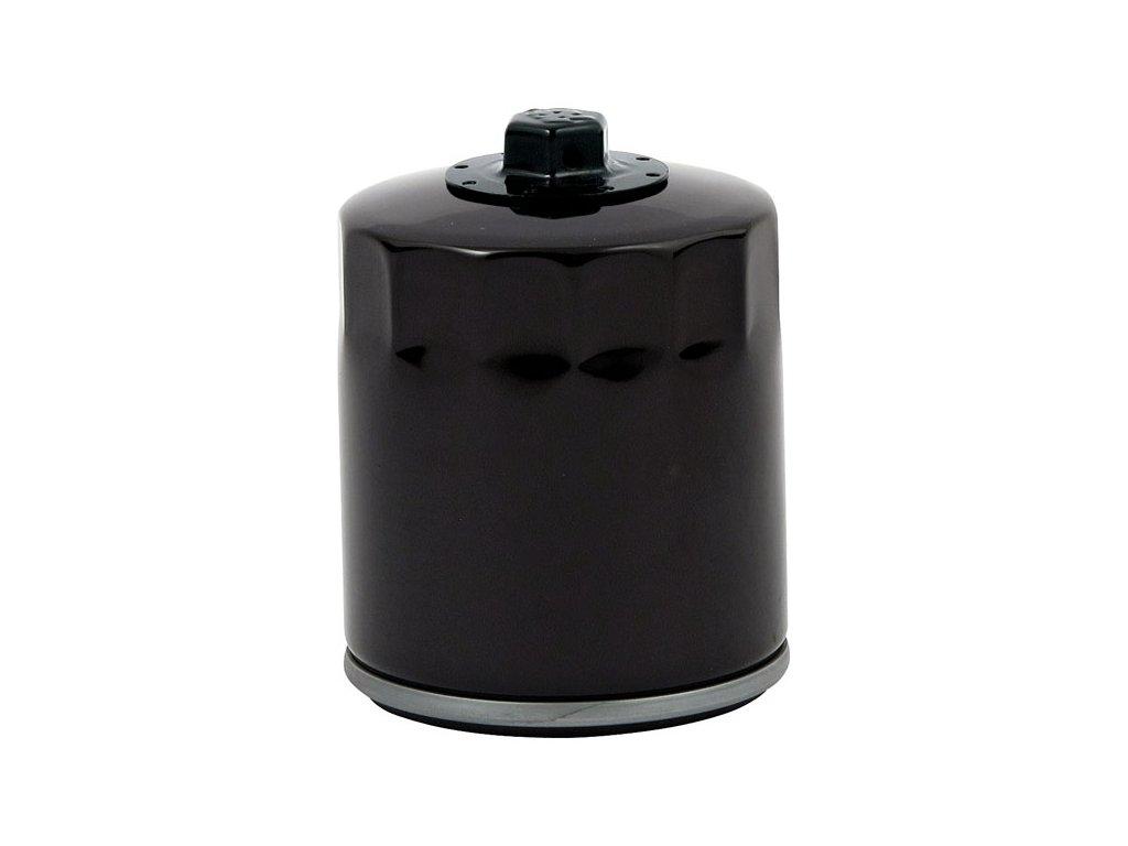 Motorkářský motorový černý olejový filtr magnetický pro Harley Davidson MCS TwinCam
