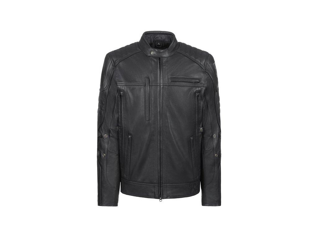 Motorkářská vodě odolná bunda z hovězí kůže John Doe TECHNICAL LEATHER JACKET v černé barvě