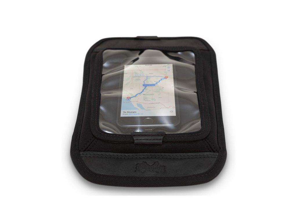 Motorkářská magnetická kapsa na uložení telefonů, malých tabletů, map a dokonce některých GPS zařízení Burly MAP/ACCESSORY TANK SCREEN BLACK v černé barvě. TW Ryder