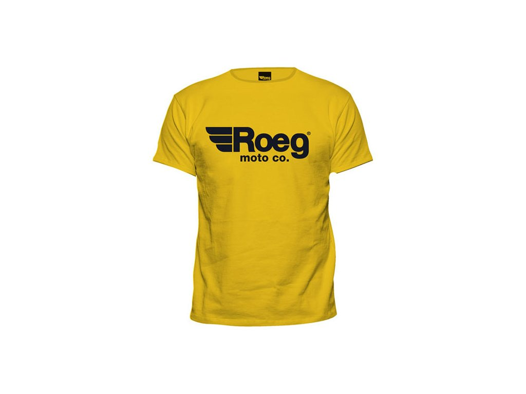 Motorkářské bavlněné triko s potiskem ROEG OG Tee ve žluté barvě