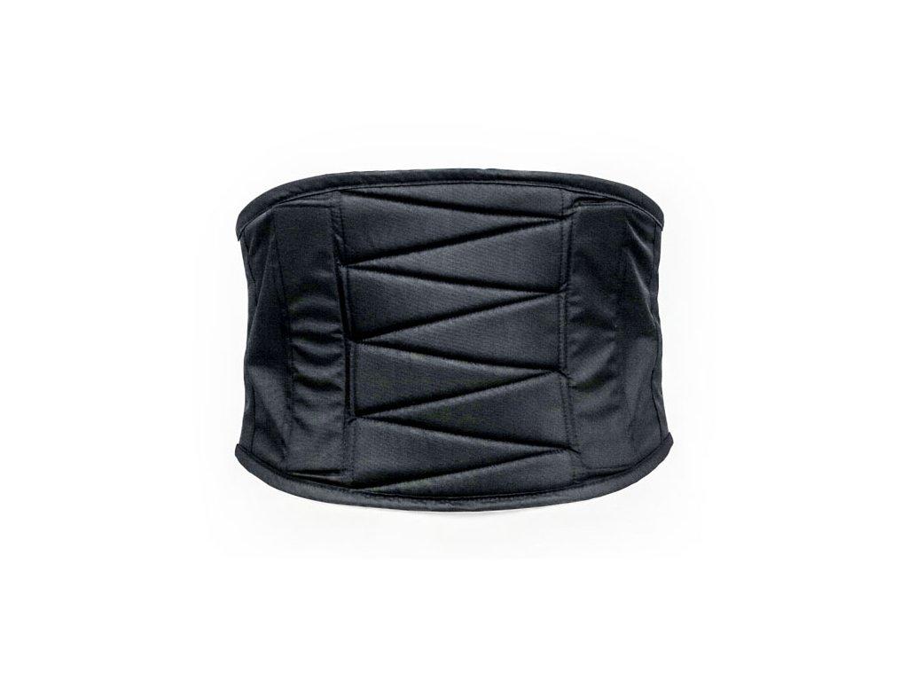 Motorkářský lehký ledvinový pás prošívaný a obšitý kůží MCS MC15 KIDNEY BELT SYMPATEC v černé barvě
