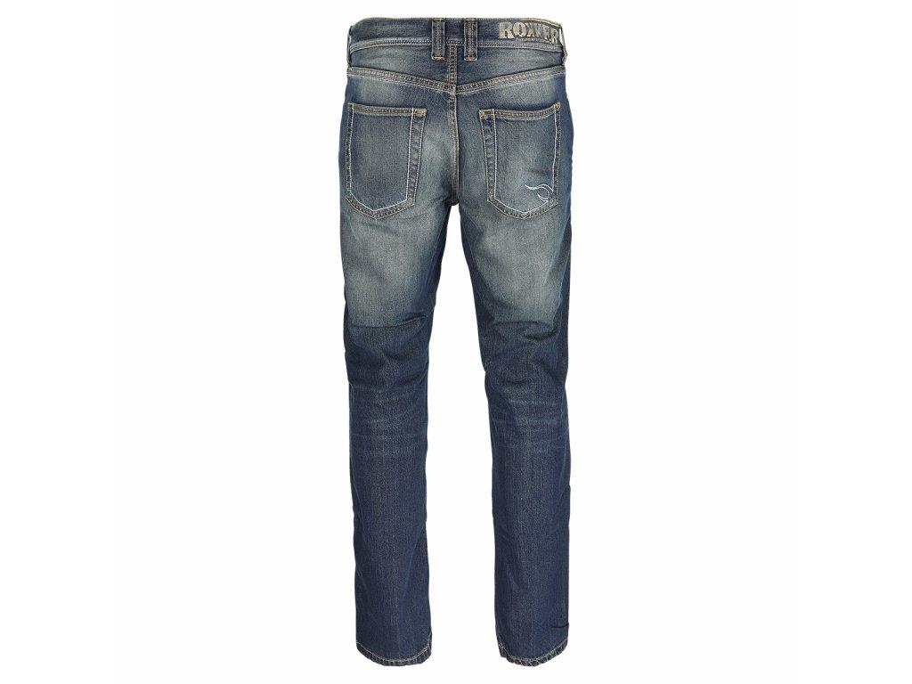 Motorkářské bavlněné džíny odolné proti větru a vodě ROKKER ORIGINAL ROKKER JEANS v tmavě modré barvě