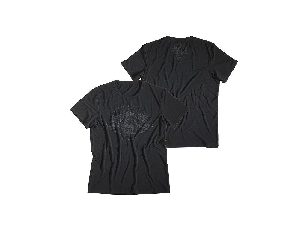 Motorkářské kvalitní triko s potiskem ROKKER PERFORMANCE TEE LA v černé barvě