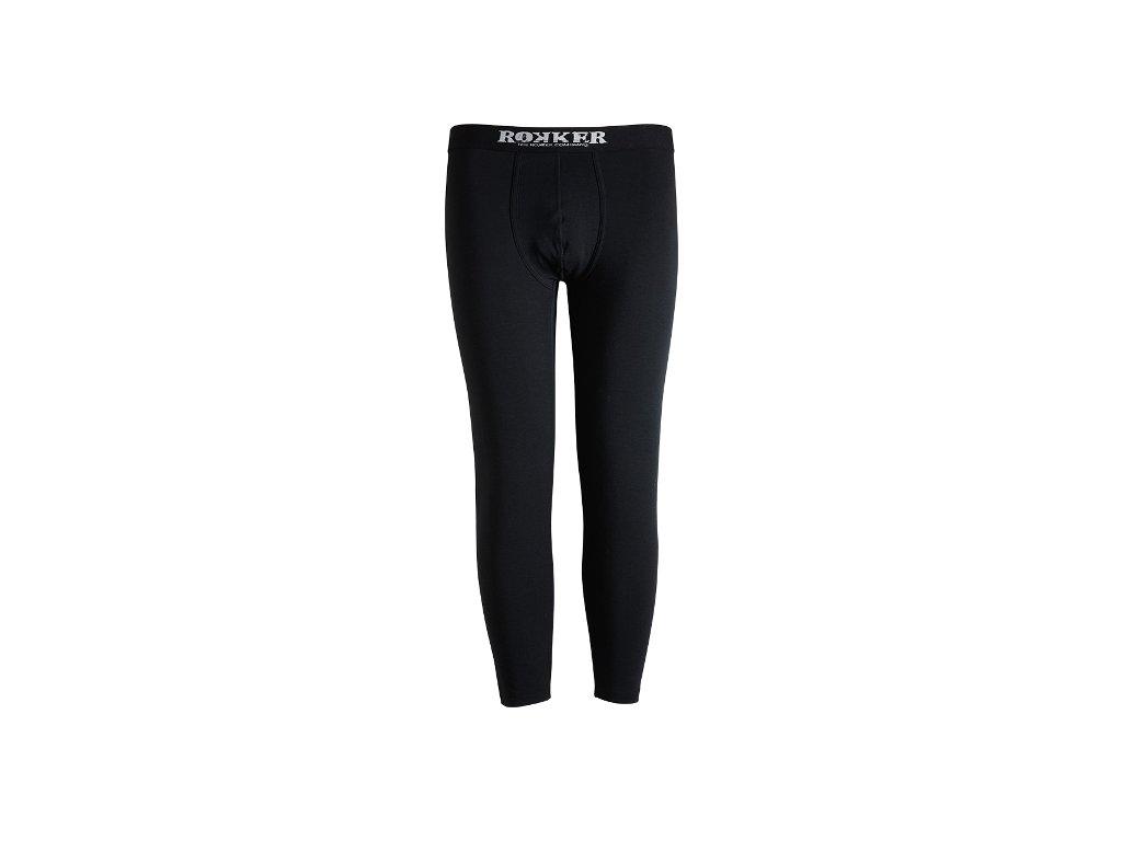 Motorkářské spodní kalhoty ROKKER v černé barvě