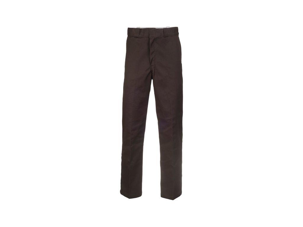 Motorkářské kalhoty (džíny) s vyšším pasem Dickies 874 WORK PANT DARK BROWN v hnědé barvě