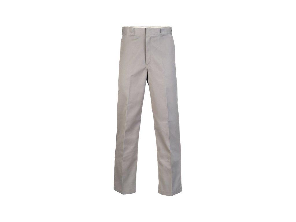 Motorkářské kalhoty (džíny) s vyšším pasem Dickies 874 WORK PANT SILVER GREY v šedo-stříbrné barvě