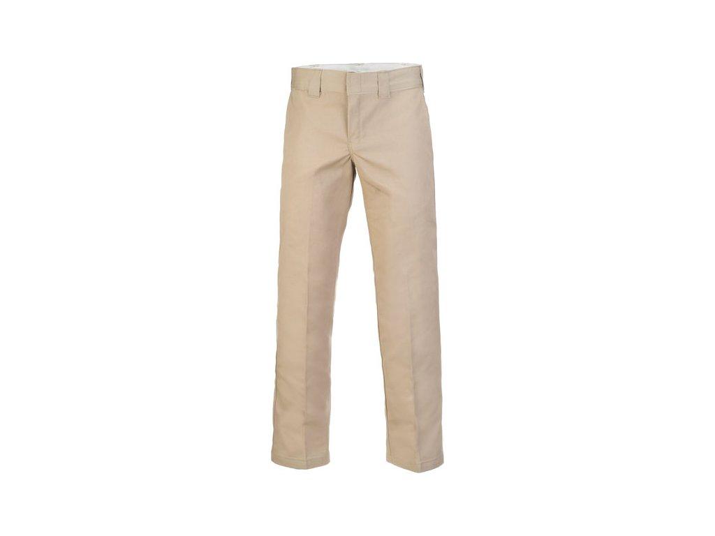 Motorkářské kalhoty (džíny) s nižším pasem a užším střihem Dickies 873 SLIM STRAIGHT WORK PANT v béžové barvě