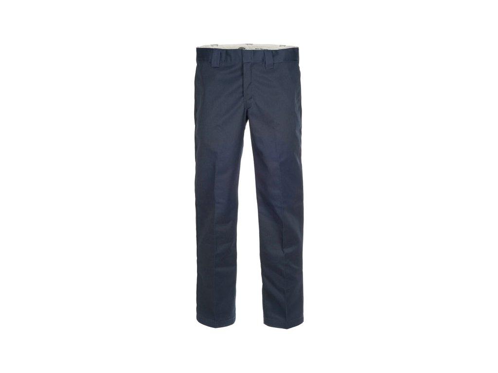 Motorkářské kalhoty (džíny) s nižším pasem a užším střihem Dickies 873 SLIM STRAIGHT WORK PANT NAVY BLUE v tmavě modré barvě