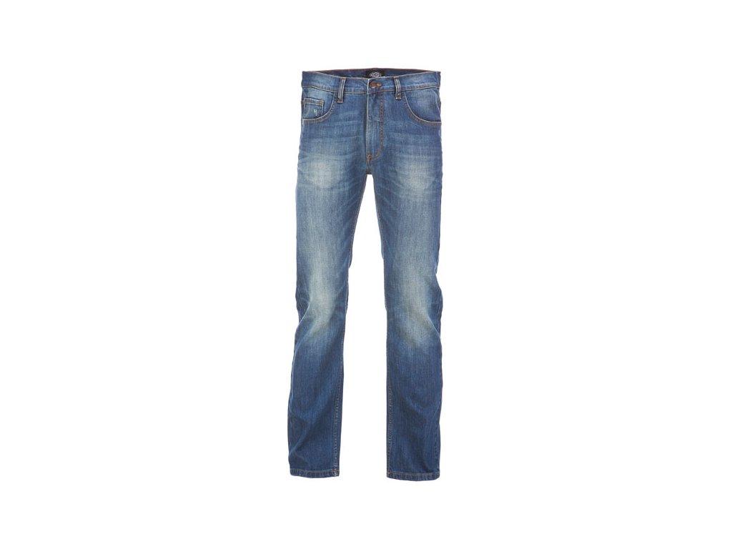 Motorkářské kalhoty (džíny) s úzkými nohavicemi Dickies RHODE ISLAND MID BLUE