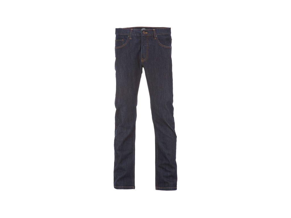 Motorkářské kalhoty (džíny) s úzkými nohavicemi Dickies RHODE ISLAND RINSED v tmavé barvě