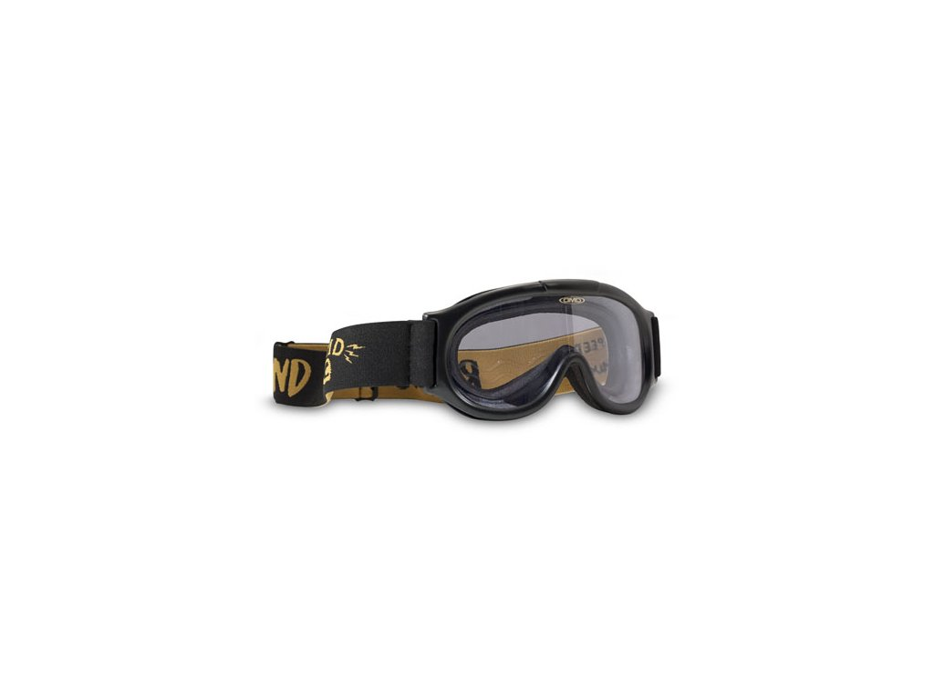 Motorkářské brýle s úpravou zabraňující mlžení DMD GHOST CLEAR v černo-žluté barvě
