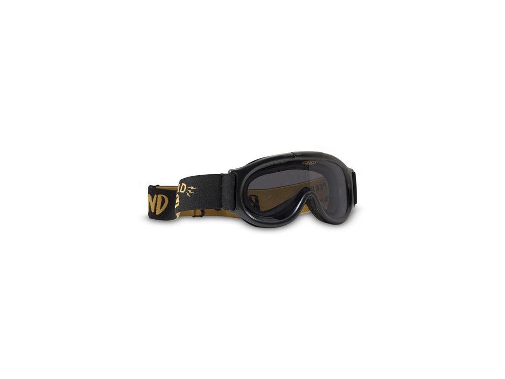 Motorkářské brýle s úpravou zabraňující mlžení DMD GHOST SMOKE v černo-žluté barvě