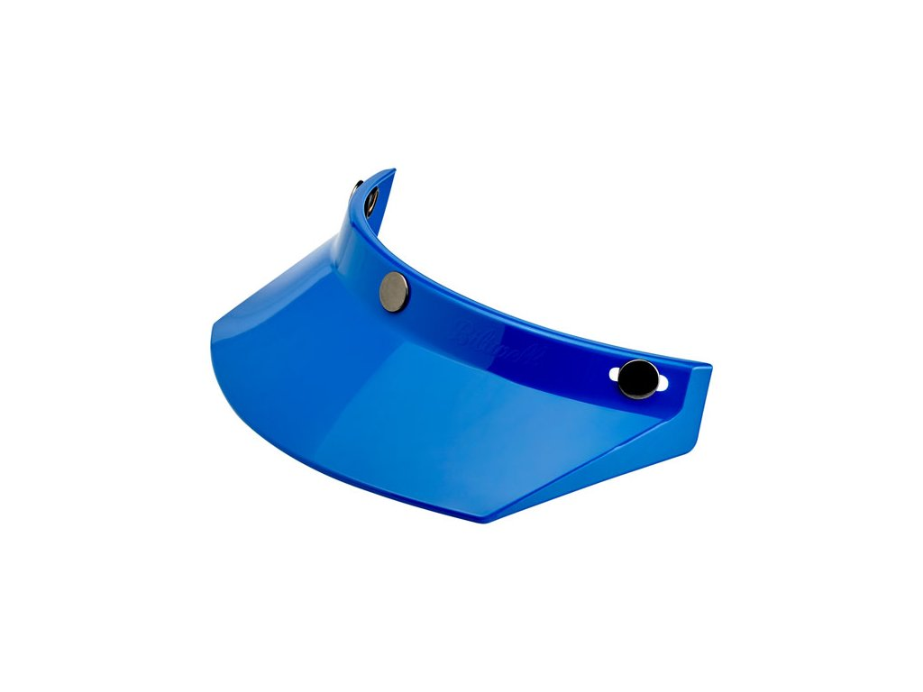 Motorkářský nacvakávací kšilt pasující na integrální i otevřené helmy Biltwell PEAK BLUE v modré barvě
