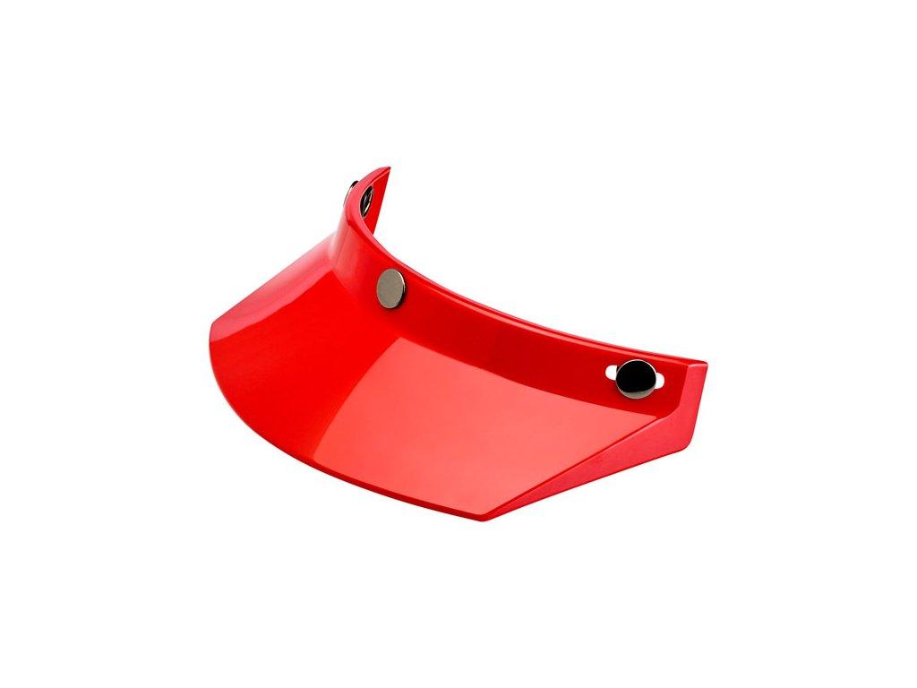 Motorkářský nacvakávací kšilt pasující na integrální i otevřené helmy Biltwell PEAK RED v červené barvě