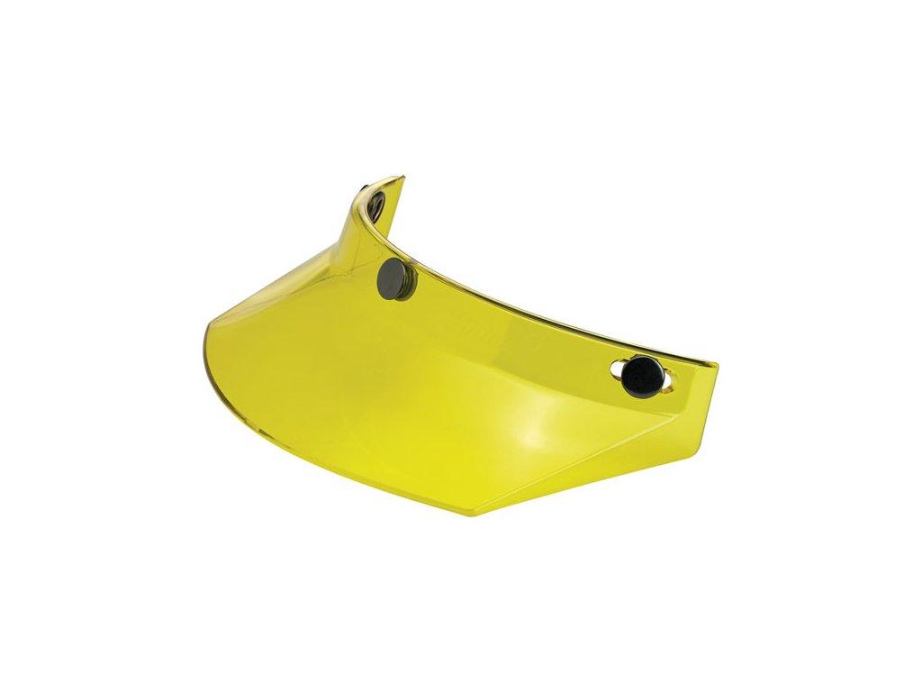 Motorkářský nacvakávací kšilt pasující na integrální i otevřené helmy Biltwell PEAK YELLOW TRANSLUCENT ve žluté barvě