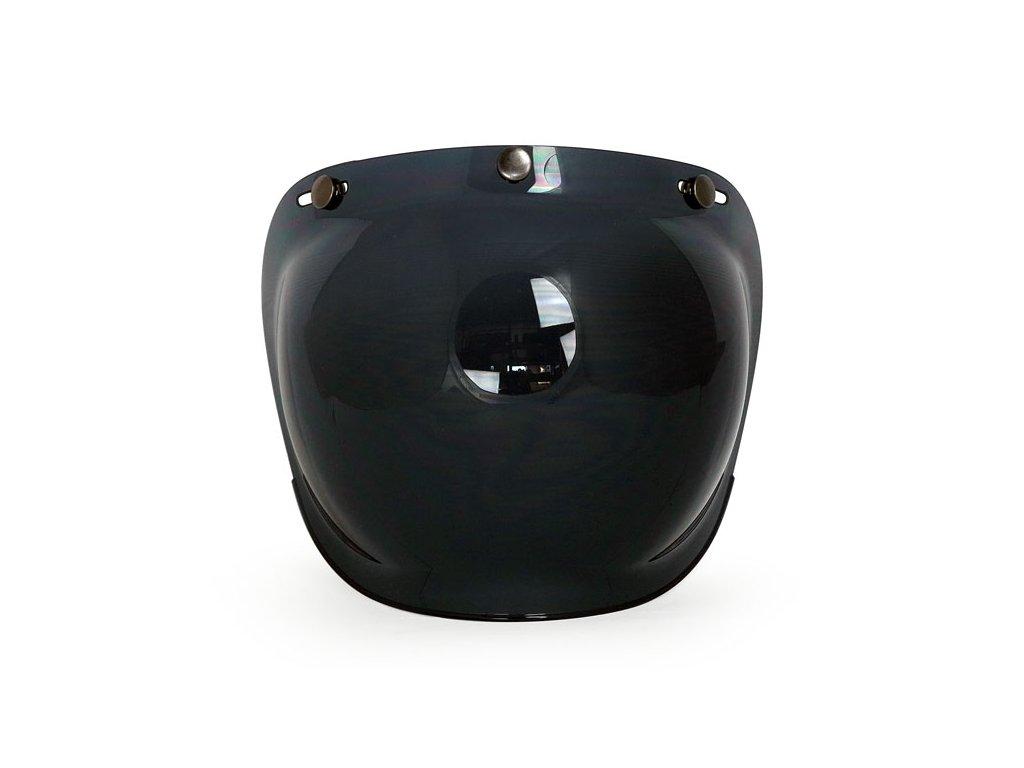 Motorkářský polykarbonátový vypouklý štít pro Roeg Jett přilby ROEG® štít Smoke v černé kouřové barvě