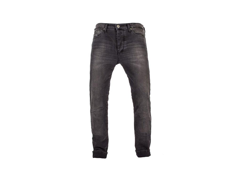 Motorkářské vodě odolné kevlarové kalhoty John Doe IRONHEAD USED BLACK v černé barvě