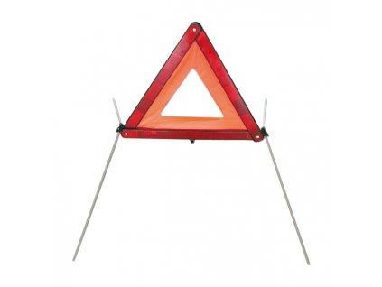 Motorkářský výstražný trojúhelník se stabilním stojánkem
