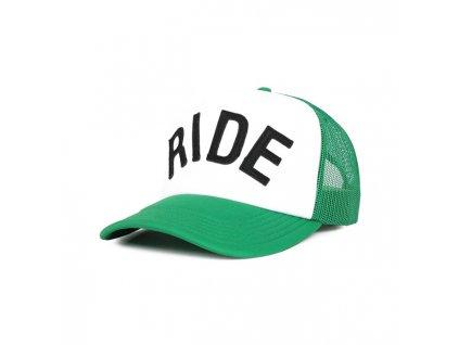 Motorkářská kšiltovka s nastavitelnou velikostí ROEG RIDE CAP GREEN WHITE v zeleno-bílé barvě