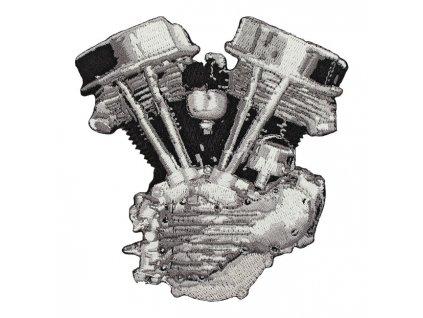 Stylová nášivka Lowbrow HD Panhead Engine TW Ryder