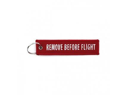 Přívěšek na klíče MCS Remove before Flight, barva červená TW Ryder