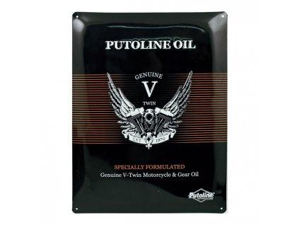 Reklamní plechová cedule Putoline Oil  TW Ryder