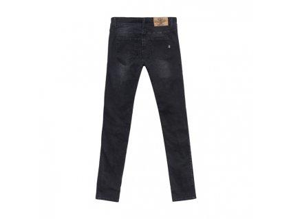 Motorkářské kevlarové vodě odolné riflové kalhoty John Doe HIGH WAIST BETTY BLACK v černé barvě