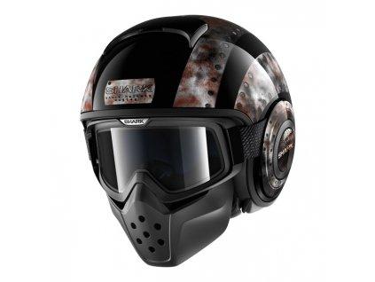 Motorkářská lehká stylová helma (přilba) SHARK DRAK DOGTAG. TW Ryder