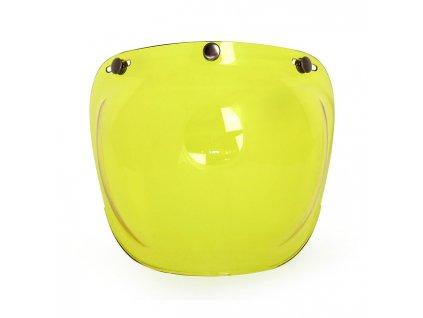 Motorkářský polykarbonátový vypouklý štít pro Roeg Jett přilby ROEG® štít Yellow ve žluté barvě